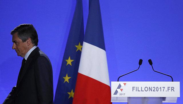 Французские центристы приостанавливают участие впредвыборной кампании Франсуа Фийона