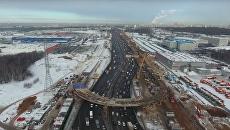 Строящийся разворотный тоннель на Калужском шоссе