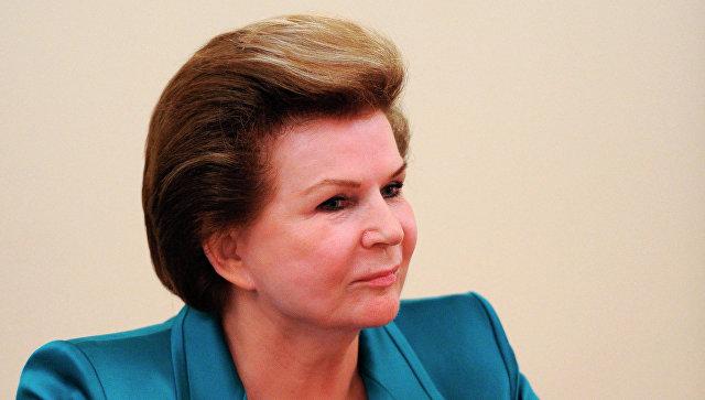 Путин наградил Терешкову орденом завклад вукрепление государственности