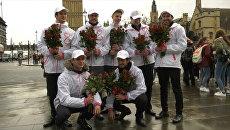 From Russia With Love: россияне поздравили женщин европейских столиц с 8 марта