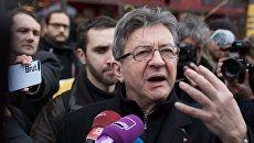 Лидер движения Непокорная Франция Жан-Люк Меланшон. Архивное фото