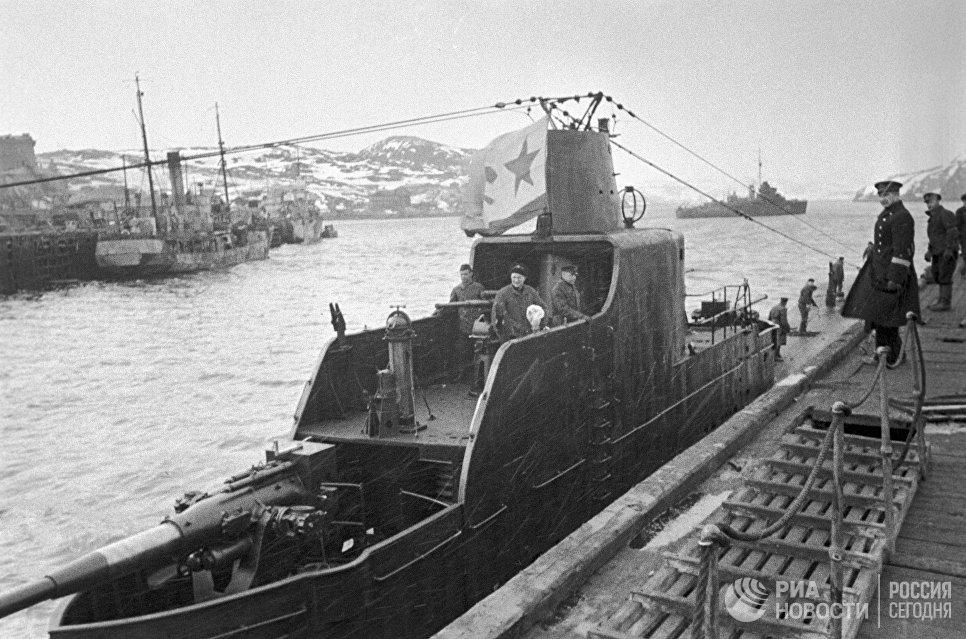 Подводная лодка Северного флота во время Великой Отечественной войны