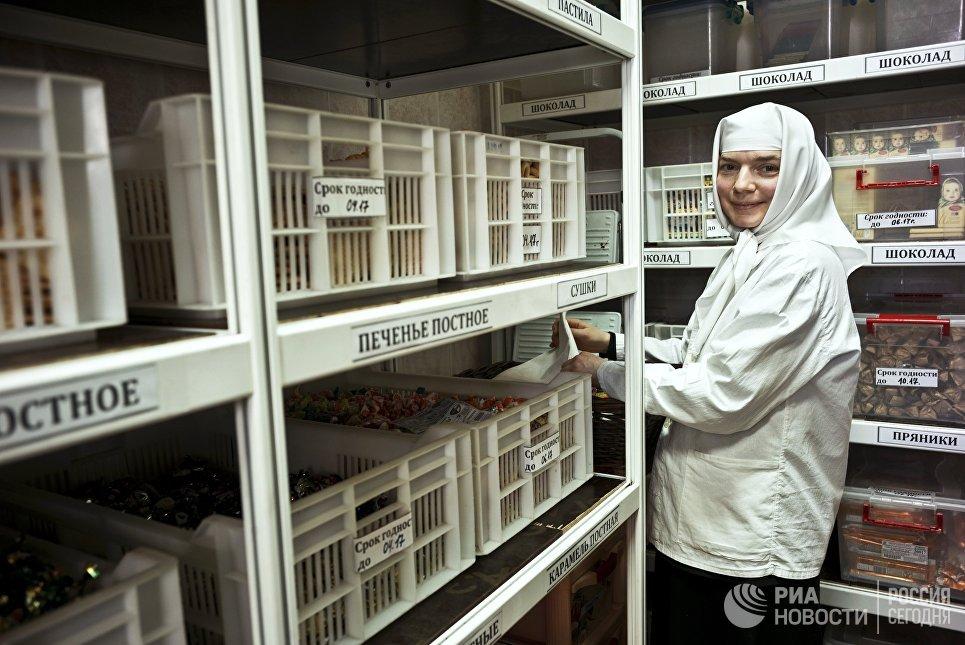 Продовольственный склад монастырской трапезной в Свято-Никольском Черноостровском женском монастыре в городе Малоярославце