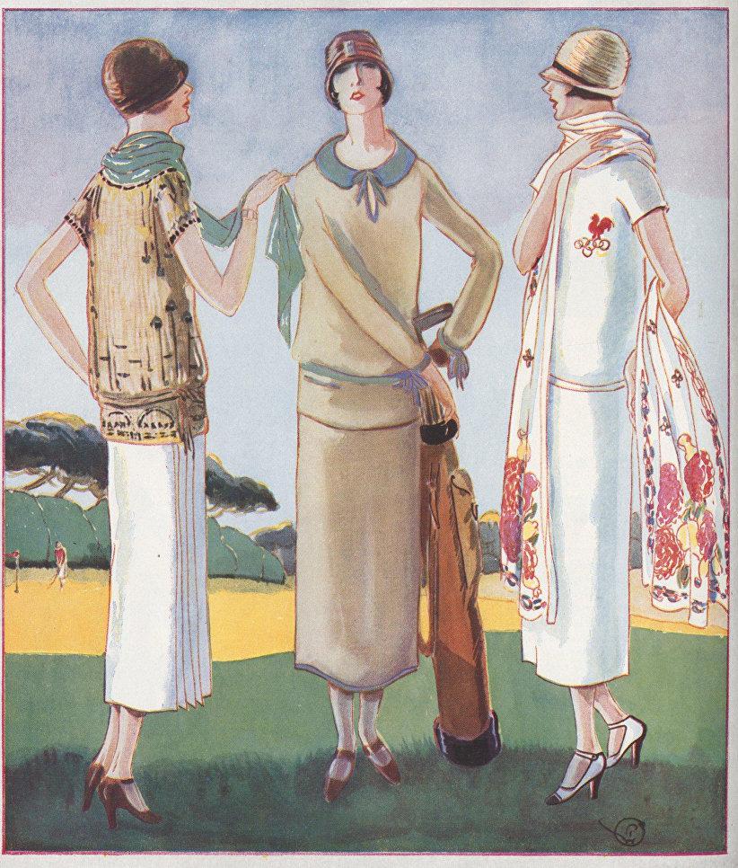Ансамбли для средиземноморских курортов. Журнал Femina, 1925 г.