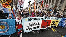 Индейцы протестуют против строительства нефтепровода Dakota Access Pipeline. Вашингтон