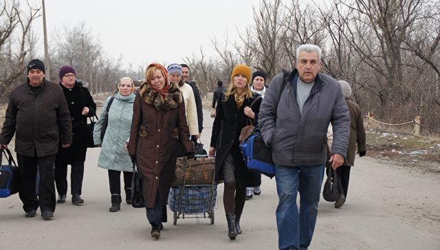 Встреча пленных иихродственников вЛуганске