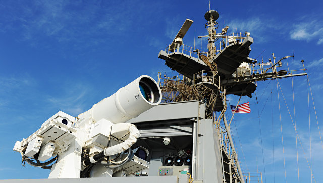 ВМФ США впервый раз  испытали лазерное оружие