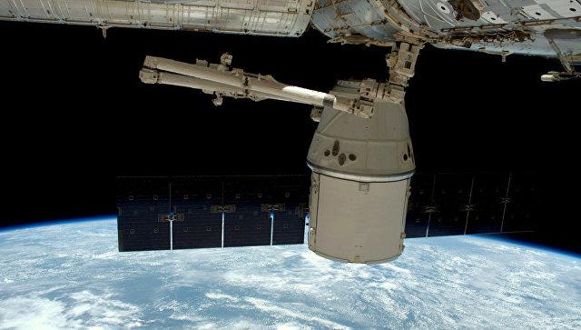 Космический грузовой автомобиль  Dragon начал возвращение наЗемлю
