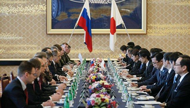 Переговоры министров иностранных дел и министров обороны России и Японии в формате два плюс два в Токио. 20 марта 2017