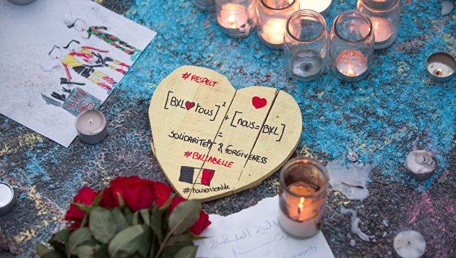 Траурный митинг в память о погибших в Брюсселе. Архивное фото