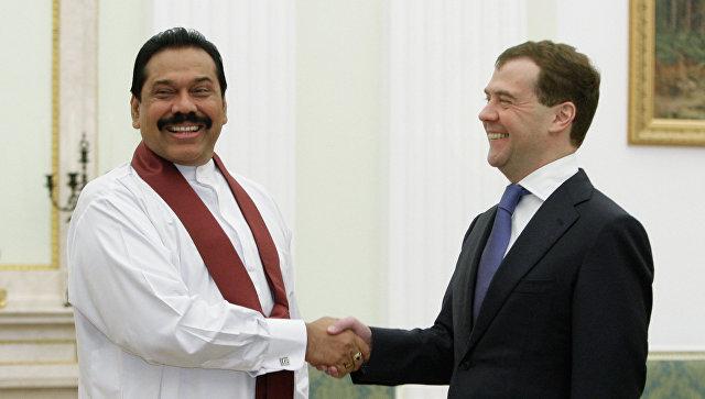 Президент РФ Дмитрий Медведев во время встречи в Кремле с президентом Шри-Ланки Махиндой Раджапаксе. Архивное фото