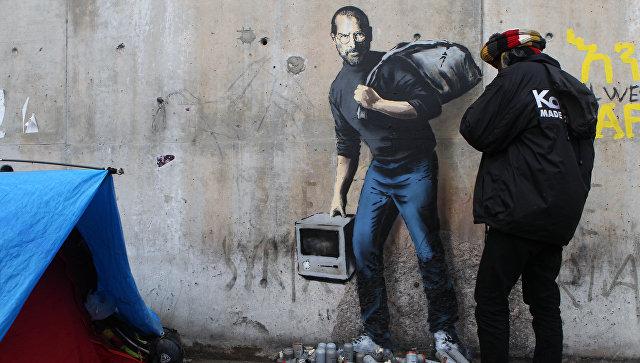 Banksy художник рисующий член