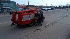 Пожарная машина в Харьковской области, Украина. Архивное фото