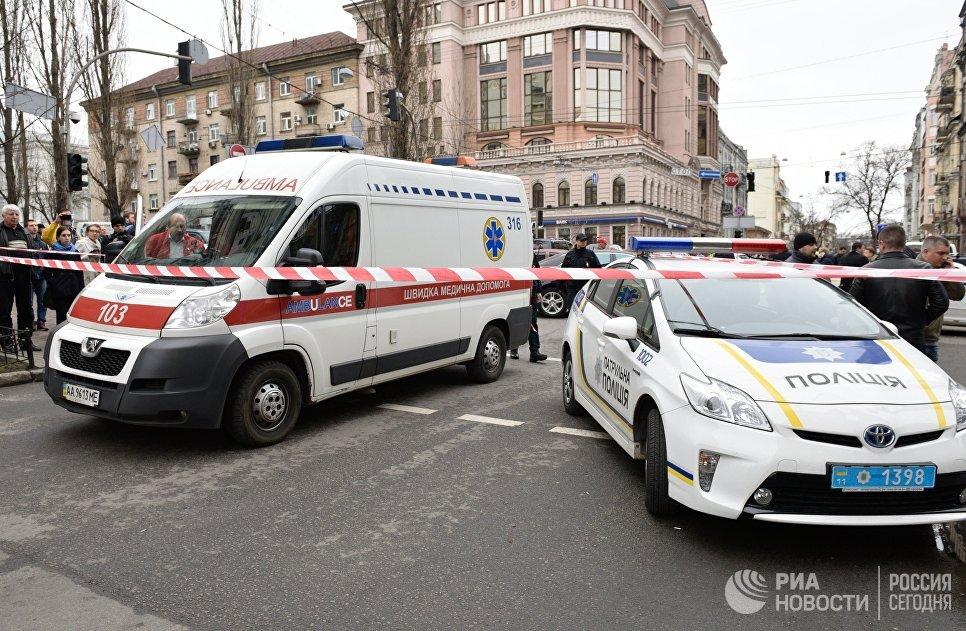 На месте убийства бывшего депутата Госдумы России Дениса Вороненкова. 23 марта 2017