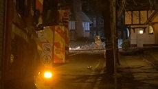 Кадры с места мощного взрыва на западе Великобритании