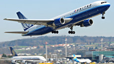 Самолет Boeing 767-300 авиакомпании United Airlines. Архивное фото
