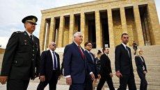 Госсекретарь США Рекс Тиллерсон во время визита в Анкару, Турция. 30 марта 2017 года