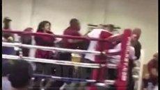 Драка на соревнованиях по боксу в Лос-Анджелесе