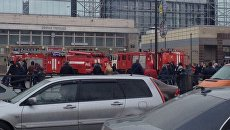 Ситуация у станции метро Сенная площадь в Санкт-Петербурге,. 3 апреля 2017