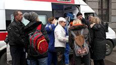 Пострадавшие в результате взрыва на станции метро Технологический институт в Санкт-Петербурге