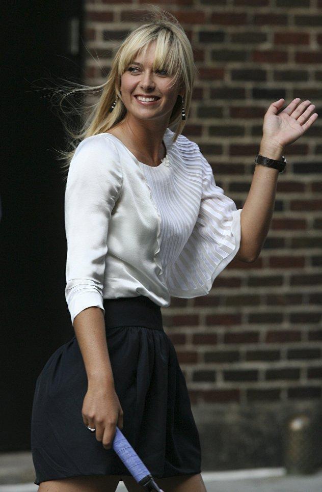 Российская теннисистка Мария Шарапова в Нью-Йорке, 2008