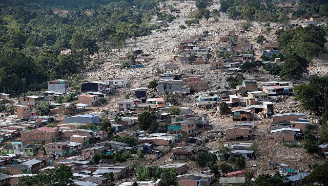 Последствия схода селевого потока в Мокоа, Колумбия