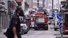 Полицейские в центре Стокгольма, Швеция. 7 апреля 2017. Архивное фото