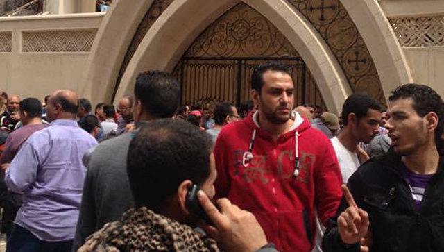 Появилось видео теракта укоптской церкви вЕгипте