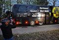 """Журналисты на месте взрыва у автобуса ФК """"Боруссия"""" в Дортмунде, Германия. 11 апреля 2017"""