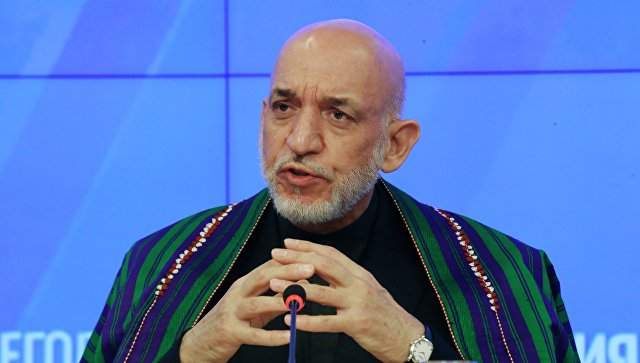 Бывший президент Исламской республики Афганистан (в 2004-2014 гг.) Хамид Карзай. Архивное фото