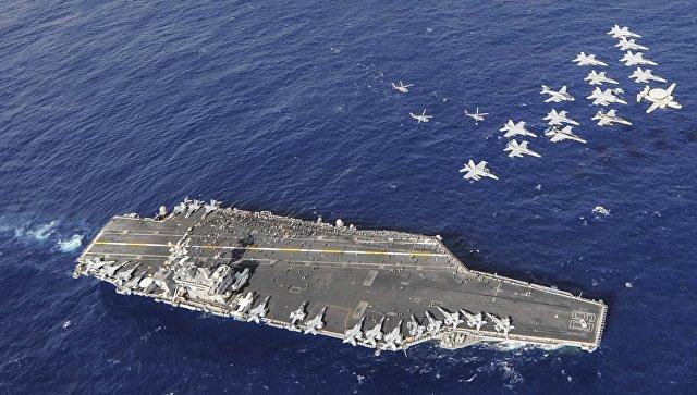 Авианосец ВМС США Нимиц. Архивное фото