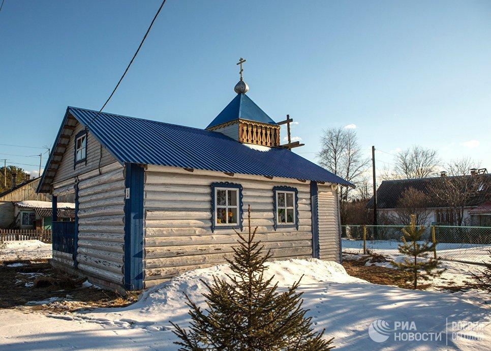 Часовня Святителя Николая в деревне Крошнозеро Пряжинского района Карелии
