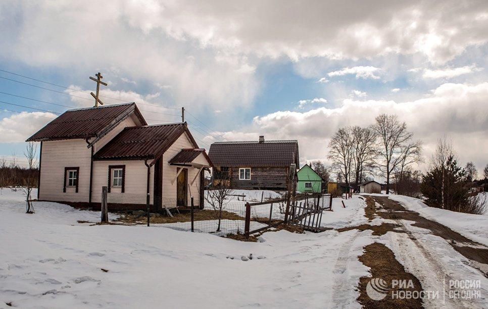 Часовня Преображения Господня в деревне Улялега Пряжинского района Карелии