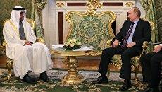 Президент РФ Владимир Путин и наследный принц Абу-Даби Мухаммед Аль Нахайян. Архивное фото