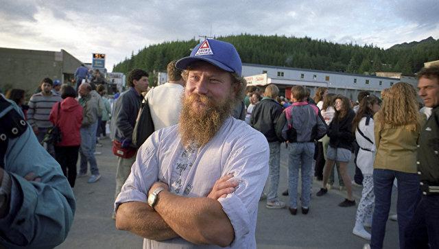 Выходец из России, старовер Семен Матвеев на праздновании 250-летия открытия Аляски.