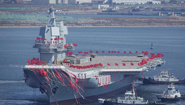 Первый китайский авианосец собственного производства. 26 апреля 2017 года