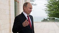 Президент РФ Владимир Путин во время встречи с президентом Турции Реджепом Тайипом Эрдоганом. 3 мая 2017