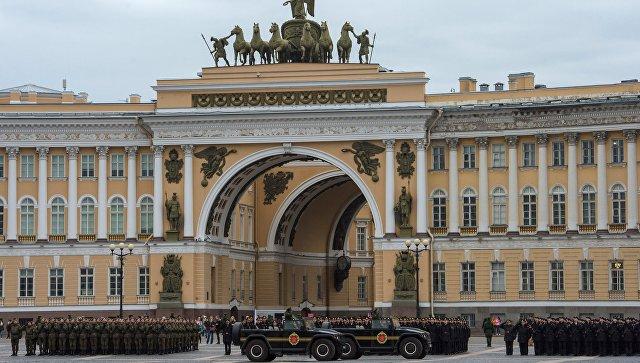 Истребители изКарелии отрепетировали Парад Победы вПетербурге