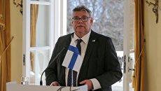Министр иностранных дел Финляндии Тимо Сойни. Архивное фото