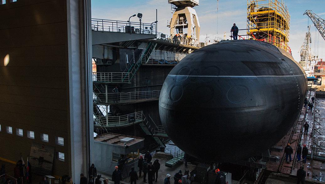 Головной корабль проекта «Ясень-М» «Казань» проходит заводские тестирования наСевмаше