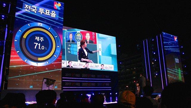 Завершение выборов в Южной Корее