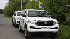 Автомобили ОБСЕ в Донбассе. Архивное фото