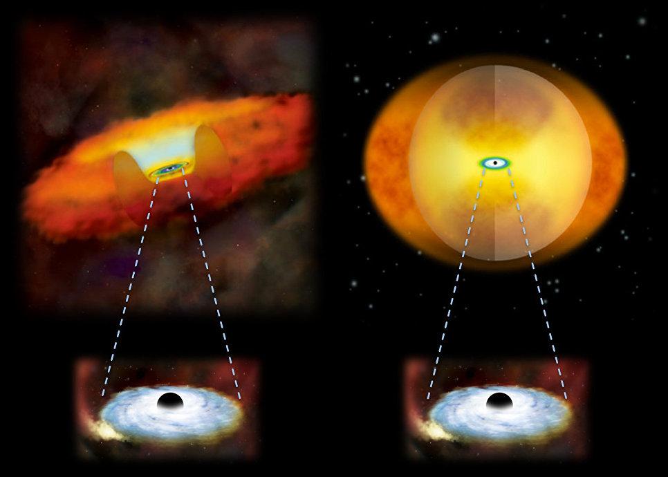 Астрономы установили, когда черные дыры закутываются впылевой кокон