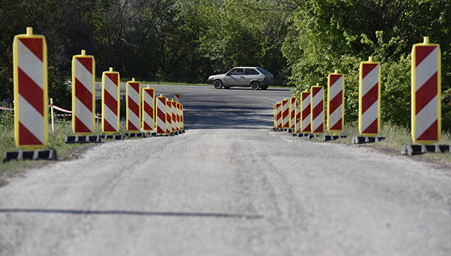 Участок строительства дороги