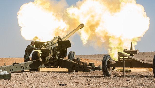 Артиллеристы Сирийской арабской армии. Архивное фото