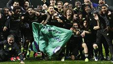 Футболисты Челси празднуют победу в чемпионате Англии