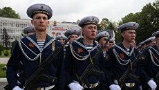 Моряки Черноморского флота РФ на параде в честь Дня Победы. Архивное фото