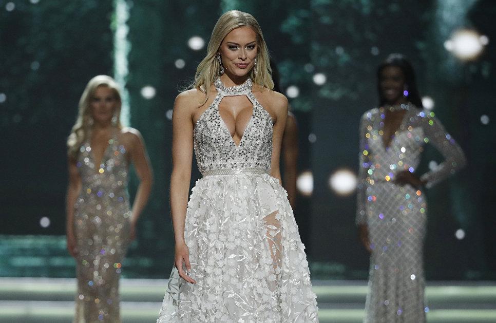 Мисс Миннесота США Мередит Гоулд во время конкурса Мисс США в Лас-Вегасе