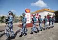 Солдаты Народно-освободительной армии Китая на острове Юншудао в Южно-Китайском море