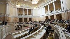 Заседание городского законодательного собрания в Санкт-Петербурге. Архивное фото